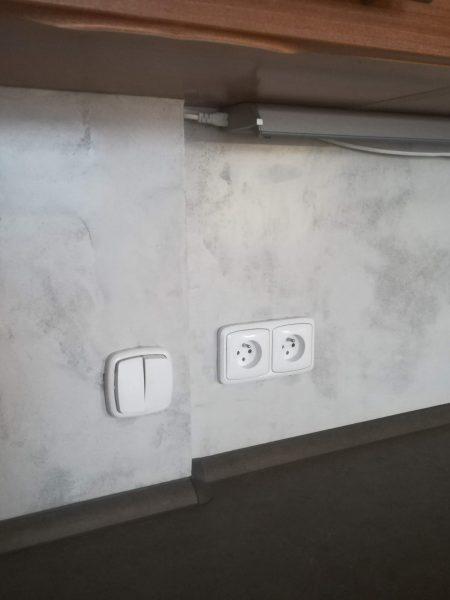 Imitace betonu, malba